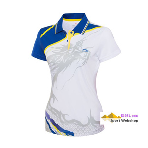 women Jersey: 2013 Indoor Series, Badminton and table tennis jersey,competition T-shirt,li-ning AAYH034