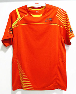 men Badminton shirt: 2011 World Championships badminton short-sleeved T-shirt,li-ning ATSF345