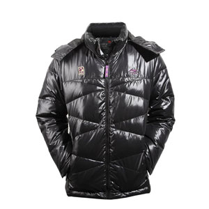 men down jacket: li-ning Basketball Black down jacket,White duck,li-ning AYMF047-2