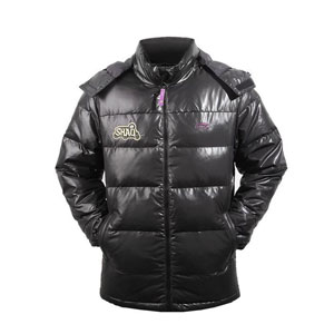 men down jacket: li-ning Basketball Black down jacket,White duck,li-ning AYMF097-2