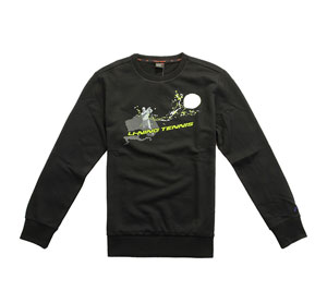 Li Ning Tennis Sweater Black Men Tennis Sweater Li-ning AWDH087