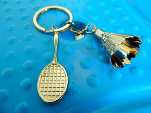 Badminton Accessories Badminton keychain Metal Exquisite Pendant