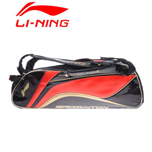 Lining Badminton Bag 2014 Li-ning Tournament 9 Racket Black Badminton Bag ABJJ054-1