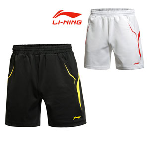 2014 Lining World Championship National Team Men Badminton Shorts AAPJ123-1-2