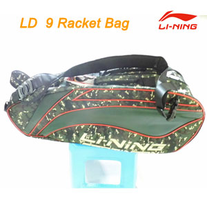 Lin Dan Badminton Bag Li-Ning 9 Racket Badminton Army Bag Dedicated LD ABJJ088-1