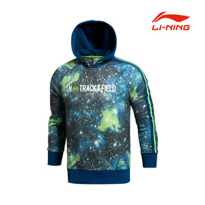 Li Ning 2014 sports life luminous new vitality sweater Men pullover hooded sweater AWDJ339-2