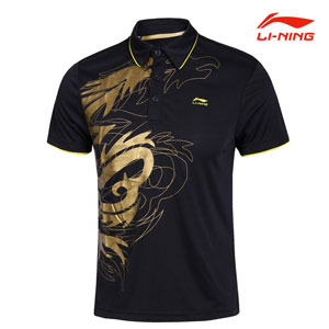 Men Table tennis T-shirt Li-ning Professional Tournament Table tennis T-shirt Li-ning aayf359