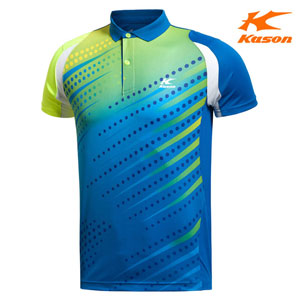 Kason Badminton T-shirt: 2014 Men Badminton Competition Tops, Kason FAYJ007-2