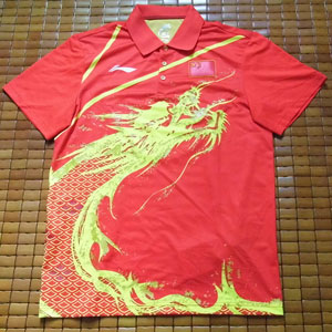 Men Table Tennis T-Shirt London Olympic Men Table Tennis Jersey Li Ning CP