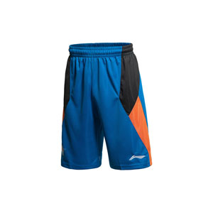 Li ning Sichuan Team Men Basketball Tournament CBA Blue Shorts Lining AAPJ411-1