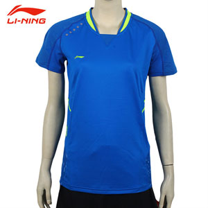 Women Badminton Tshirt 2015 All England Li Ning Badminton Tournaments Jersey Li-ning AAYK004