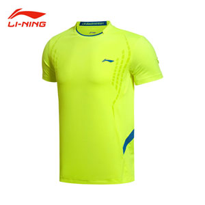 Men Badminton T-shirt, 2015 Lining Badminton Tournament Jersey, Li Ning ATSK053