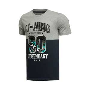 Li-ning Cultural T-shirt: 2015 Legendary 90 Men Short-sleeved Shirt, Li ning AHSK331