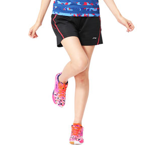 Women Badminton Shorts 2015 Li-Ning China Open Badminton Championships Shorts Lining AAPK136