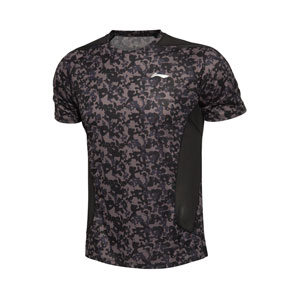 Li-ning Badminton T-shirts: 2015 Men Badminton Sports T-shirt, Li-ning ATSK553