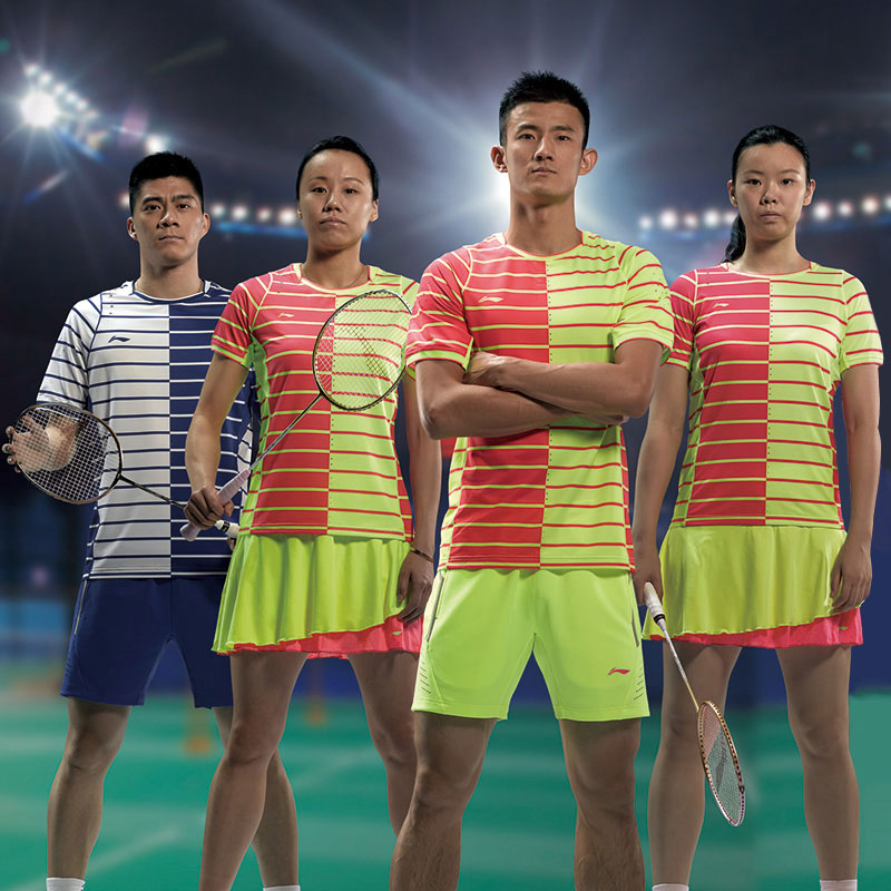 Li-Ning 2016 First half of the international competitions Men Badminton T-shirt Lining AAYL029