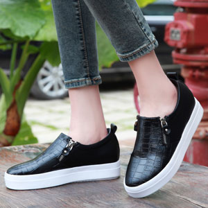 Increased within a single shoes fashion shoes women shoes 2016 new round flat loafers 6355