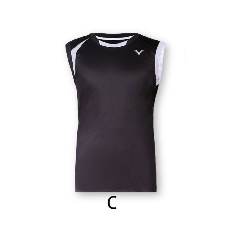f446a08ea00c7 ... VICTOR Badminton Sleeveless Men 2016 Tournament Knitted sleeveless T-shirt  vest T-6019 D