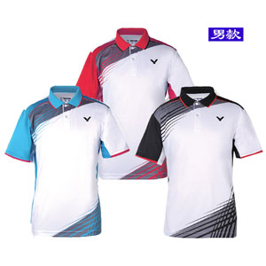 Men Badminton T-shirt 2016 VICTOR Knitted POLO T-shirt Badminton Jersey S-6016 AD/AM/AC