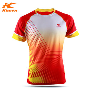 Kason FAYL007 Tee Badminton 2016 Men Quick-drying Professional Game Jersey