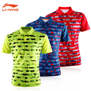 Li Ning/Li-ning/Lining AAYK144 Kids Badminton 2016 Children Profession Tshirt Jerseys