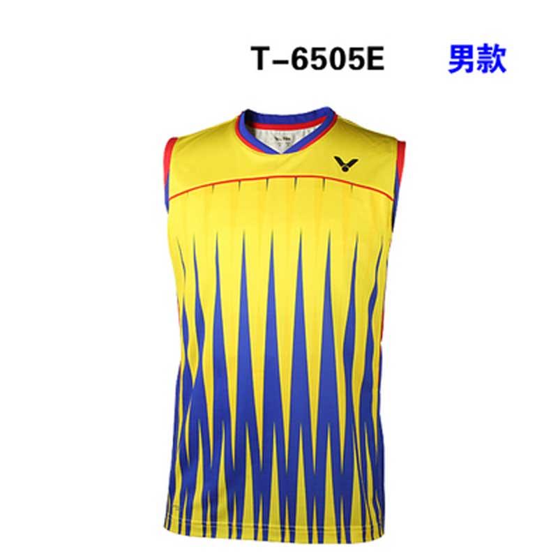 52447198f36803 ... Victor Badminton Sleeveless Jersey 2016 Brazil Olympics Malaysia Men T-shirt  VICTOR T-6505 ...