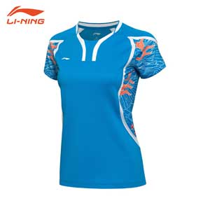 Women Badminton Jersey 2016 Li-Ning The 2016 Rio de Janeiro Olympic Games China Team T-shirt AAYL124