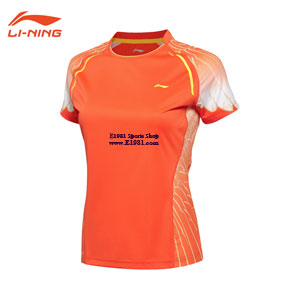 Li Ning/Li-ning/Lining AAYL096 Tee Badminton 2016 Women Quick-drying O-neck Shirt Competition