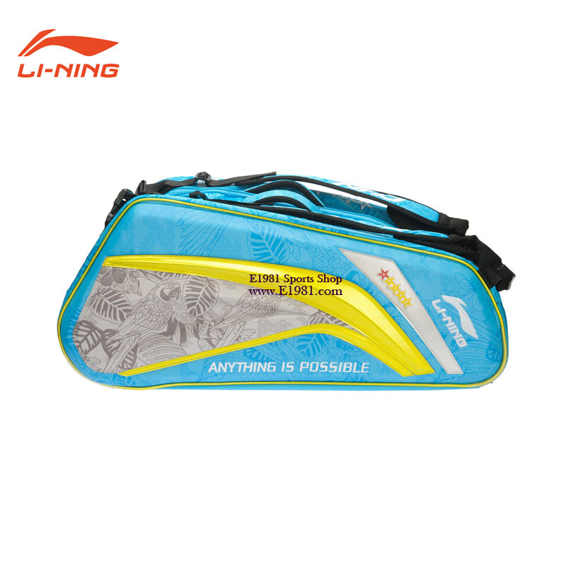 Li-ning Badminton Bag 2016 Olympic Tournament Blue Red 9 Badminton Bag Lining ABJL066-1