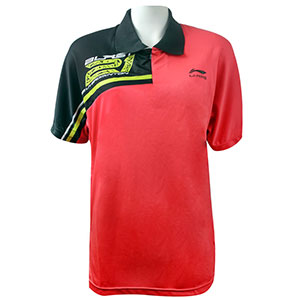 Li ning badminton T-shirt:Black short-sleeved,badminton series,tournament,badminton clothing,Li ning APLF885-2