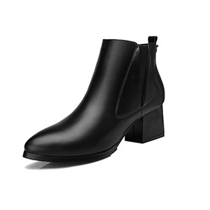2016 Winter Fashion Short Boots Women Casual Leather Boots Pointed Toe Buckle Warm Plush Women Ankle Boots CM1030