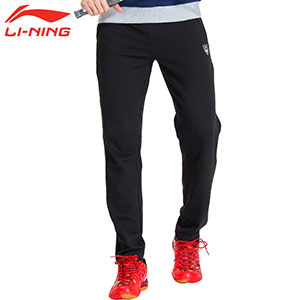 Li-ning Badminton Trousers 2016 Men Polyester Cotton Sports Trousers Li-ning AKLK781