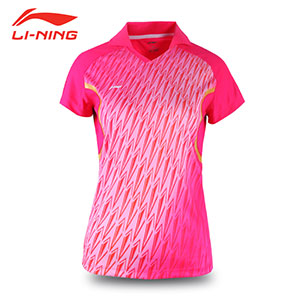 Women Li Ning Jersey 2016 Table Tennis Ping Pong Badminton Indoor T-shirt Li-Ning AAYJ014