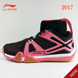 Li-ning 2017 Women Badminton Professional shoes Affixed to flight Socks sets LI NING BOUNSE New Materials AYAM004-1