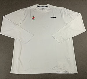 Li-ning  Long-sleeve Tshirt Sponsor CBA Player Edition Warm-up Casual T-shirt Li-ning ATLJ141