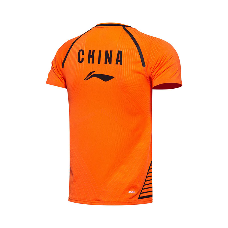 Men Badminton Jersey 2017 Li-Ning Sudirman Cup Badminton Tournament T-shirt Lining AAYM019-1-2 Tight style