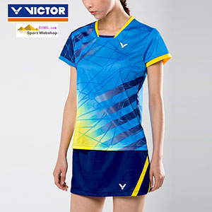 Victor Badminton T-shirt: 2017 World Championships Malaysia Women Badminton Jersey,Victor T-76003 E/M