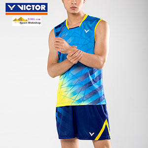 Victor Badminton Jersey: 2017 World Championships Malaysia Men Badminton Sleeveless T-shirt,Victor T-75004 M/E