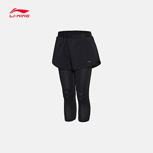 Women Badminton Shorts 2017 Li-Ning Elastic One Pants Two-in-one Pants Lining ASKM066-1-2