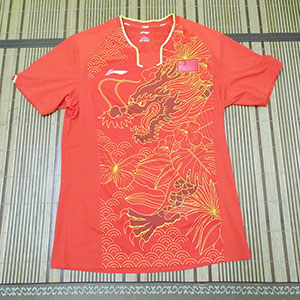 Li-ning 2016 Olympic Pingpong Jersey National Team Table Tennis T-shirts Lining CP Zhang J K
