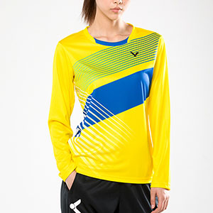 Victor Badminton Sweater 2017 Women Lady Long-Sleeved Tshirt Badminton Victor T-76100 E/M/O