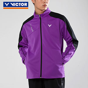 Victor Badminton Jacket 2017 Men Knit Zippers Sports Badminton Jacket Victor J-75608 J/M