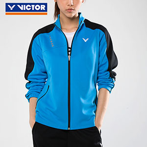 Victor Badminton Jacket 2017 Women Knit Zippers Sports Badminton Jacket Victor J-76608 J/M
