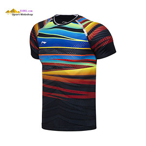 Li-Ning Badminton T-shirt: 2017 World Championships CHINA Men Badminton Jersey,Lining AAYM067-1-2 Tight style