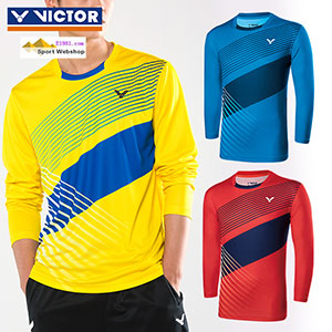 Victor Long-Sleeved T-shirt 2017 Men Long-Sleeved Tshirt Badminton Victor T-75100 E/M/O
