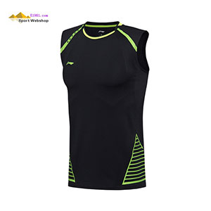 Men Badminton Jersey, 2017 Li-Ning Sudirman Cup Badminton No Sleeve Shirts, Lining AVSM027-1-2 Slim Fit