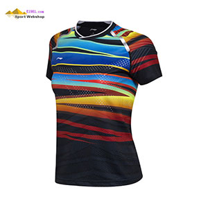 Li-Ning Badminton T-shirt: 2017 World Championships CHINA Women Badminton Jersey,Lining AAYM048-1-2