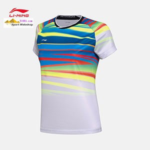 Lady Badminton T-shirt: 2017 Li-Ning TD World Championships CHINA Women Badminton Jersey,Lining AAYM062