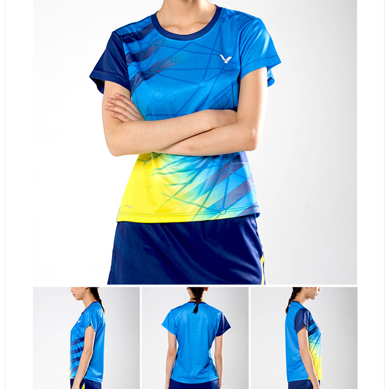 Victor Badminton T-shirt: 2017 World Championships Malaysia TD  Women Badminton Jersey,Victor T-76005 E/M