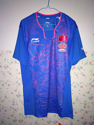 Li-ning Pingpong Jersey National Team Table Tennis T-shirts Dragon Lining CP